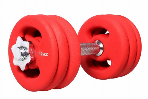 SportPlus 15 kg Hantel mit Sternverschluss