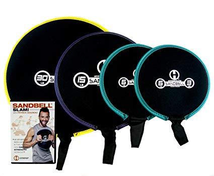 No Name Hyperwear SandBell SLAM! Workout DVD mit 4 fortgeschrittenen Sandbell-Gewichten