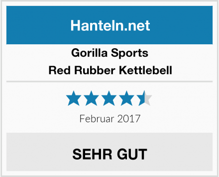 Gorilla Sports Red Rubber Kettlebell Test