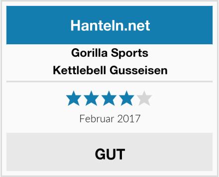 Gorilla Sports Kettlebell Gusseisen Test