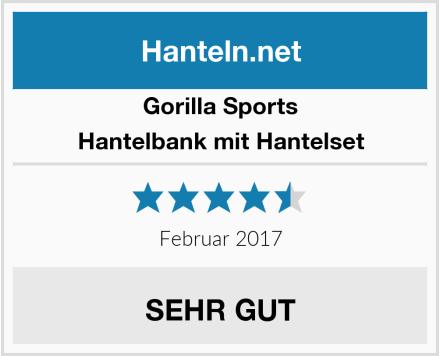 Gorilla Sports Hantelbank mit Hantelset Test