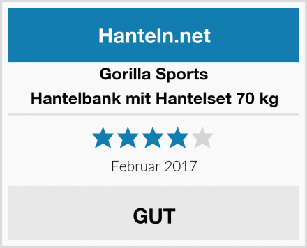 Gorilla Sports Hantelbank mit Hantelset 70 kg Test