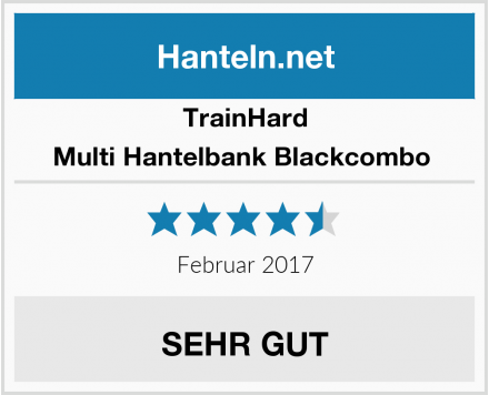 TrainHard Multi Hantelbank Blackcombo  Test