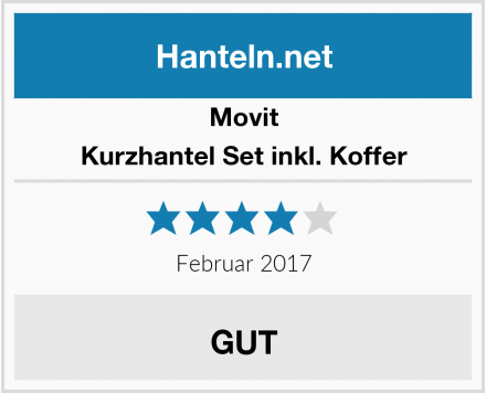 Movit Kurzhantel Set inkl. Koffer Test