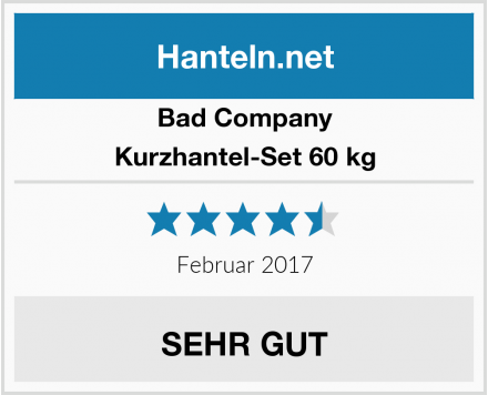Bad Company Kurzhantel-Set 60 kg Test