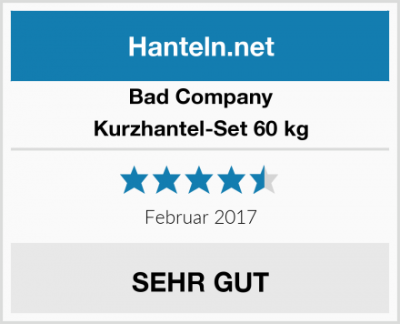 Bad Company Kurzhantel-Set 60 kg Test
