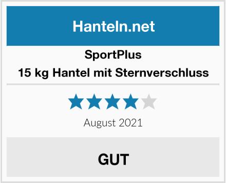 SportPlus 15 kg Hantel mit Sternverschluss Test