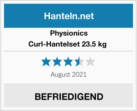 Physionics Curl-Hantelset 23.5 kg  Test