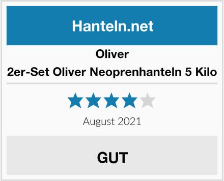 Oliver 2er-Set Oliver Neoprenhanteln 5 Kilo Test