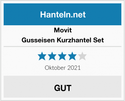Movit Gusseisen Kurzhantel Set Test