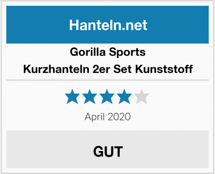 Gorilla Sports Kurzhanteln 2er Set Kunststoff Test
