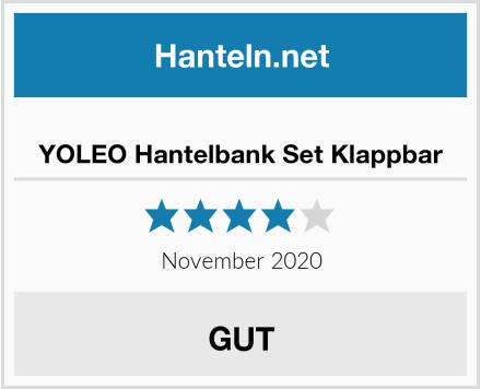 YOLEO Hantelbank Set Klappbar Test