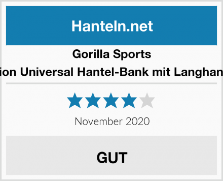 Gorilla Sports Kraftstation Universal Hantel-Bank mit Langhantelablage Test