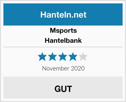 Msports Hantelbank Test