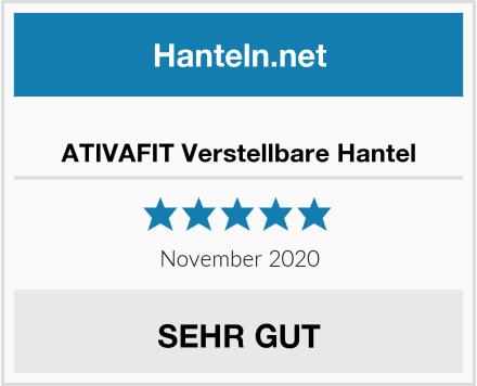 ATIVAFIT Verstellbare Hantel Test