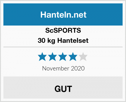 ScSPORTS 30 kg Hantelset Test