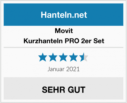 Movit Kurzhanteln PRO 2er Set Test