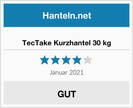 TecTake Kurzhantel 30 kg Test