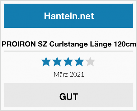 PROIRON SZ Curlstange Länge 120cm Test