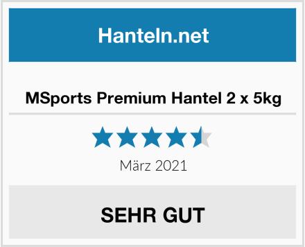 MSports Premium Hantel 2 x 5kg Test