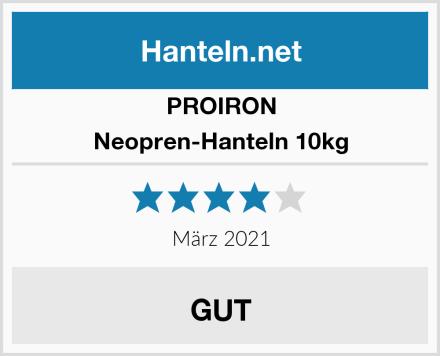 PROIRON Neopren-Hanteln 10kg Test