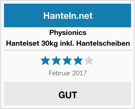 Physionics Hantelset 30kg inkl. Hantelscheiben Test