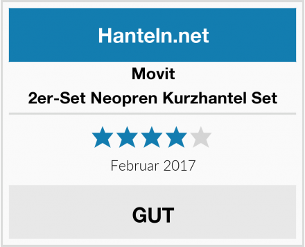 Movit 2er-Set Neopren Kurzhantel Set Test