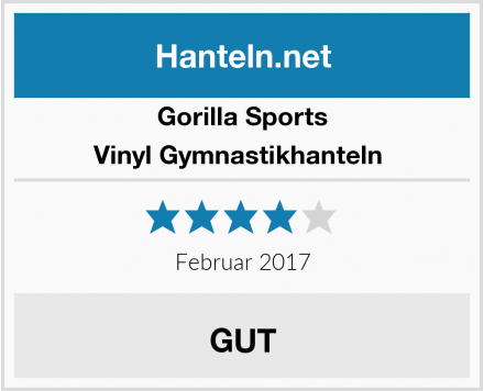 Gorilla Sports Vinyl Gymnastikhanteln  Test