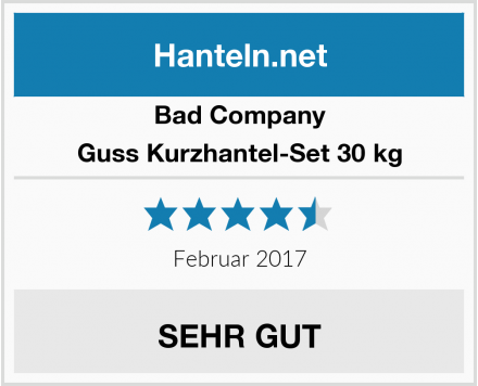 Bad Company Guss Kurzhantel-Set 30 kg Test