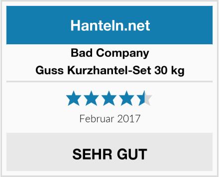 Bad Company Guss Kurzhantel-Set 30 kg Test