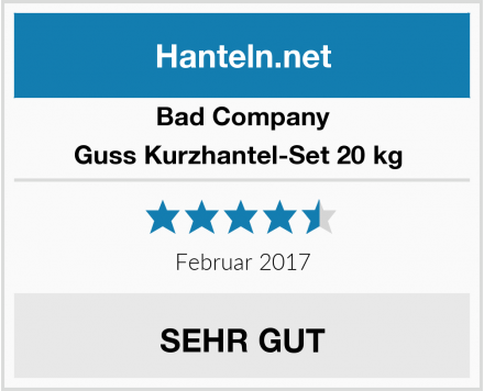 Bad Company Guss Kurzhantel-Set 20 kg  Test