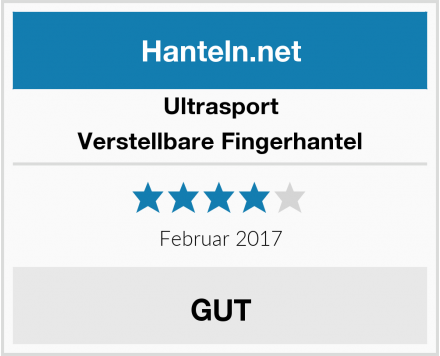 Ultrasport Verstellbare Fingerhantel Test