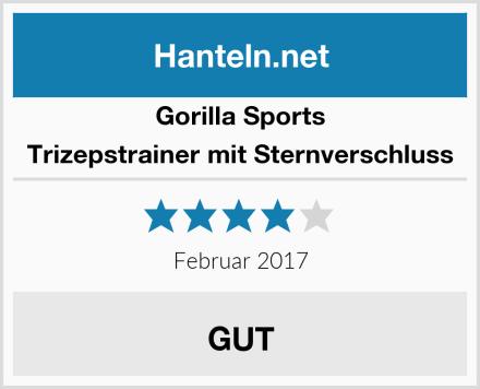 Gorilla Sports Trizepstrainer mit Sternverschluss Test