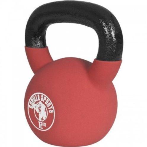 Gorilla Sports Red Rubber Kettlebell