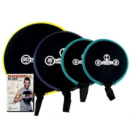 Hyperwear SandBell SLAM! Workout DVD mit 4 fortgeschrittenen Sandbell-Gewichten