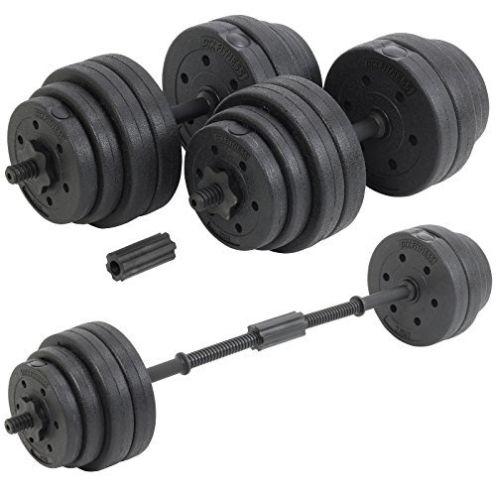 DTX Fitness 30 kg verstellbare Kurzhantel/Langhantel